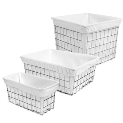 Medium Wire Vanity Basket with Cotton Liner
