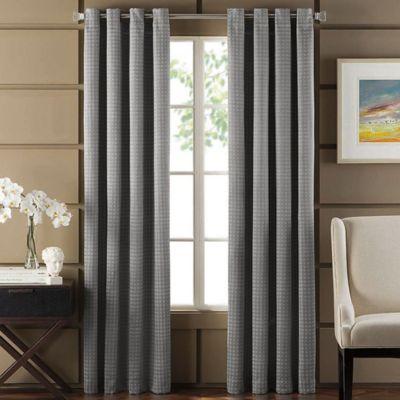 Newton 84-Inch Room-Darkening Grommet Top Window Curtain Panel in Brick