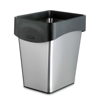 Stainless Steel 9-Liter Grocery Bag Trash Bin