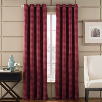 Newton 63-Inch Room-Darkening Grommet Top Window Curtain Panel in Brick