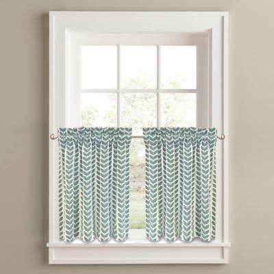 Samantha 24-Inch Window Curtain Tier Panel Pair in Aqua