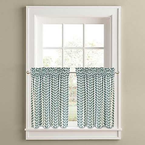 Buy Samantha 36 Inch Window Curtain Tier Panel Pair In Aqua From Bed Bath Beyond