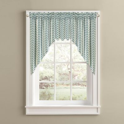 Samantha Window Curtain Swag Valance in Aqua