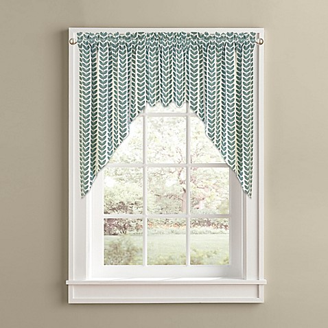 Buy samantha window curtain swag valance in aqua from bed bath
