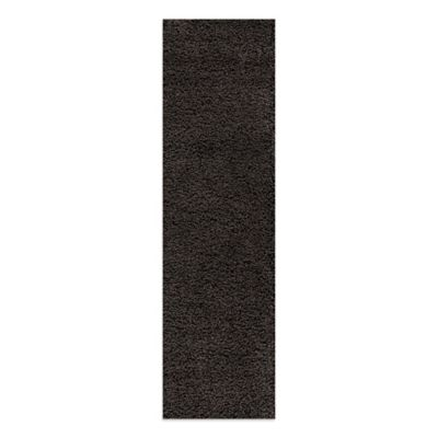Rugs America Vero Beach 2-Foot 7-Inch x 8-Foot 2-Inch Shag Runner in Charcoal