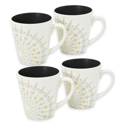 Noritake® Colorwave Holiday Mugs in Graphite (Set of 4)