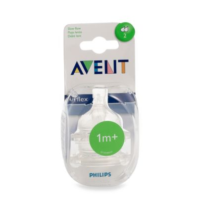 AVENT Slow Flow Bottle Nipples (Set of 2)
