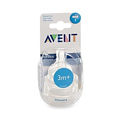 AVENT Medium Flow Bottle Nipples (Set of 2)