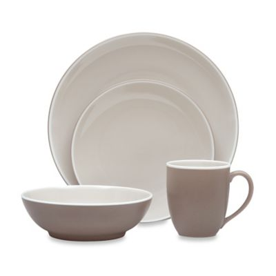 Noritake® ColorTrio 4-Piece Coupe Place Setting in Clay