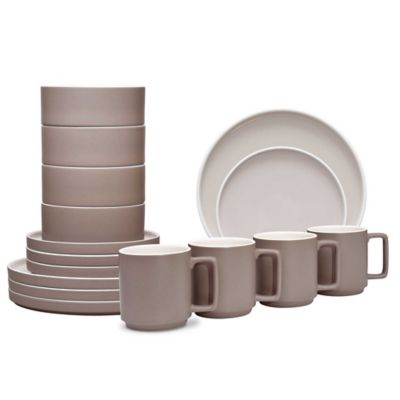 Noritake® ColorTrio Stax 16-Piece Dinnerware Set in Clay