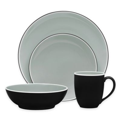 Noritake® ColorTrio 4-Piece Coupe Place Setting in Graphite