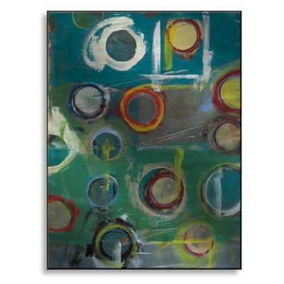 Invention in Blue II 18-Inch x 24-Inch Metal Wall Art