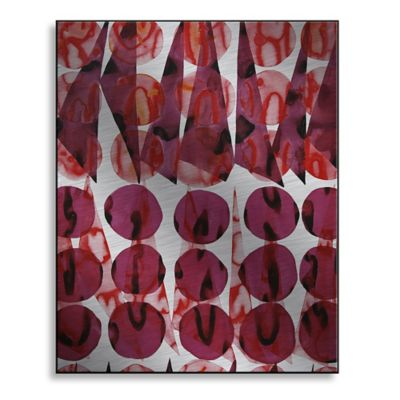 Coral Wine 13-Inch x 16-Inch Metal Wall Art