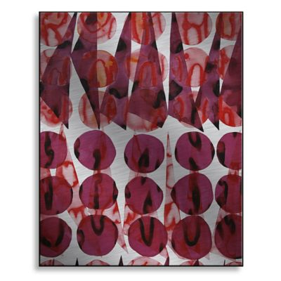 Coral Wine 19-Inch x 24-Inch Metal Wall Art