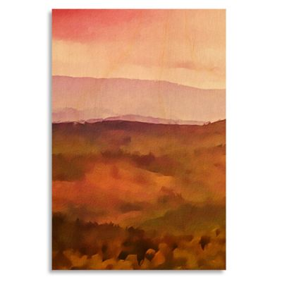 Vivid Landscape II 17-Inch x 25-Inch Wood Wall Art