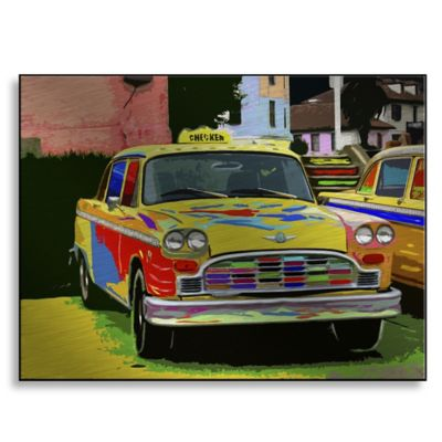 Checker 24-Inch x 18-Inch Metal Wall Art