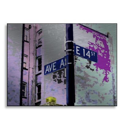 Ave A 24-Inch x 18-Inch Metal Wall Art