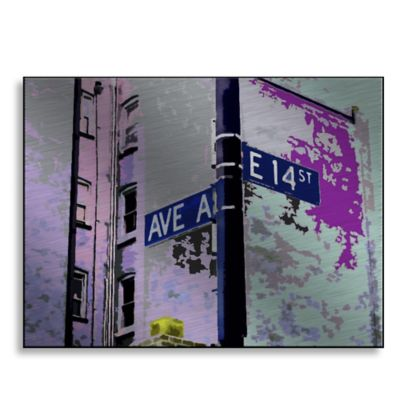 Ave A 36-Inch x 27-Inch Metal Wall Art