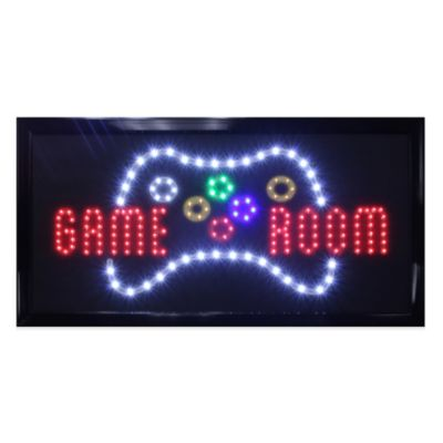 "LED Controller ""Game Room"" Sign Wall Decor"