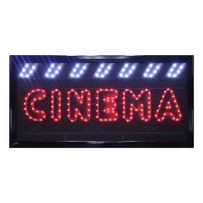 "LED Movies ""Cinema"" Sign Wall Decor"