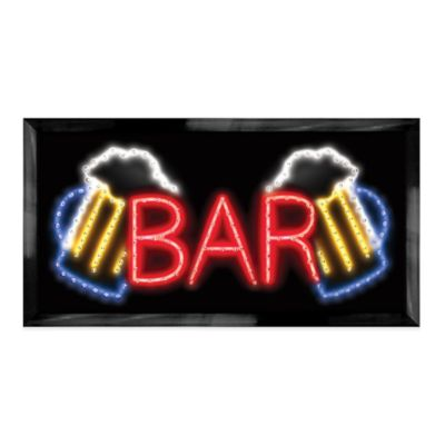 "LED Beer Mug ""Bar"" Sign Wall Decor"
