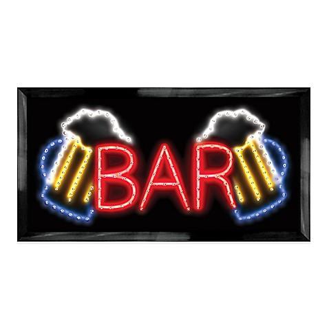 Led Beer Mug Quot Bar Quot Sign Wall Decor Bed Bath Amp Beyond