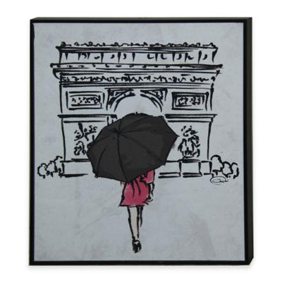 StyleCraft Inked Walk Away I Framed Print Wall Art
