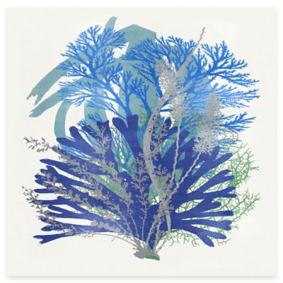 Blue Coral Arrangement 2 Canvas Wall Art