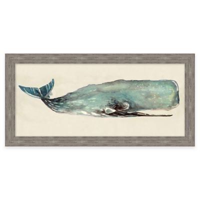 Framed Giclée Watercolor Whale 1 Wall Art