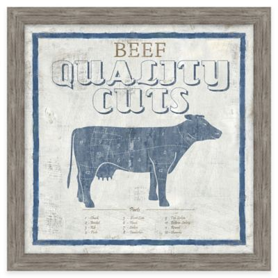 Framed Giclée Beef Quality Cuts Wall Art