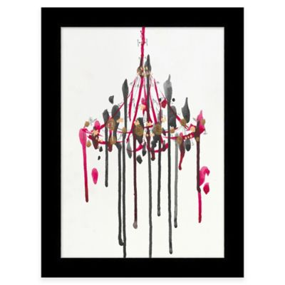 Framed Color Drip Chandelier 1 Wall Art