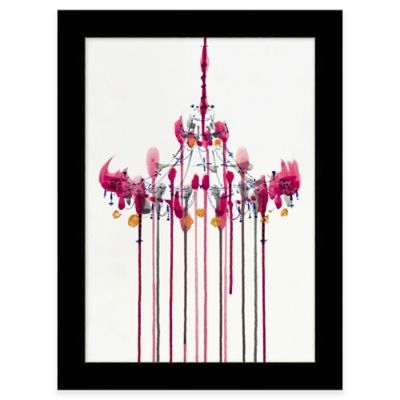 Framed Color Drip Chandelier 2 Wall Art