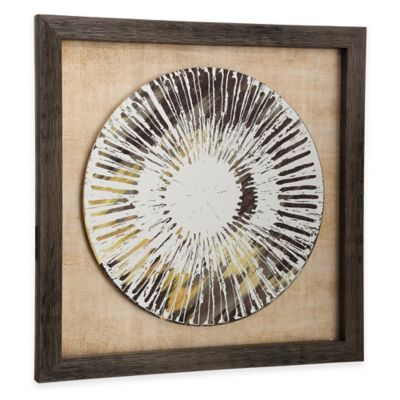 StyleCraft Weathered Plate Framed Wall Art in Brown