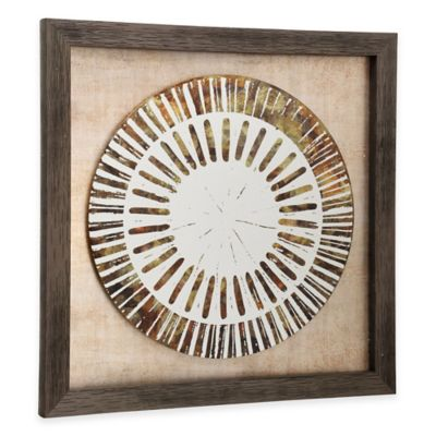 StyleCraft Weathered Plate Framed Wall Art in Gold