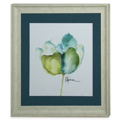 Blue Framed Floral Art