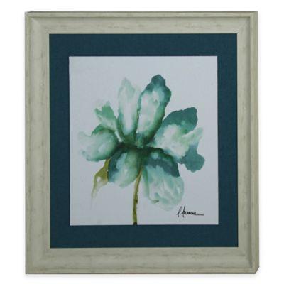 StyleCraft Floral Blue Green II Framed Print Wall Art