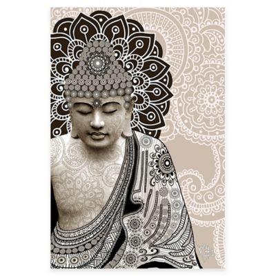 Meditation Mehndi Canvas Art Print