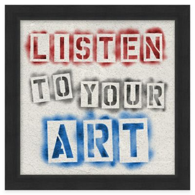 "Framed Giclée ""Listen to Your Art"" Wall Art"