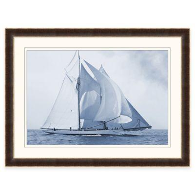 Indigo Yacht Framed Wall Art