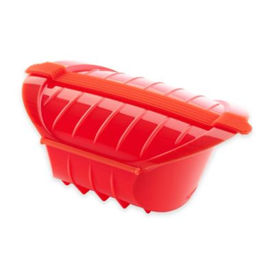 Lékué Deep Steam Case with Tray in Red