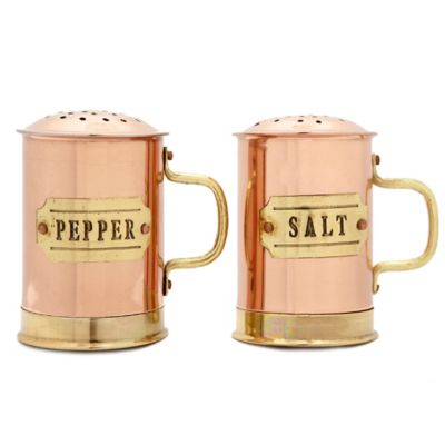 Old Dutch International Copper Small Salt and Pepper Shaker Set