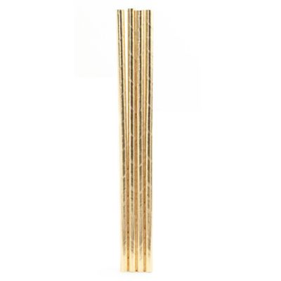 Kikkerland® Paper Straws in Gold (144-Pack)