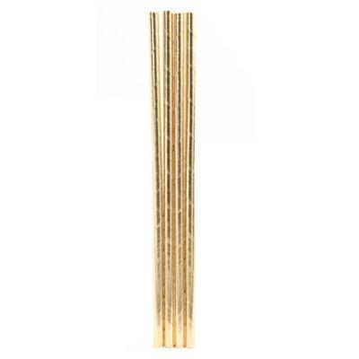 Kikkerland® Paper Straws in Gold (144-Pack)