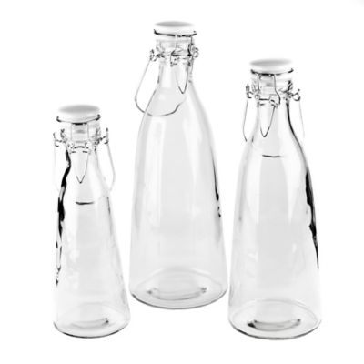 Blue Harbor 3-Piece Glass Bottle Set with Clip Lids