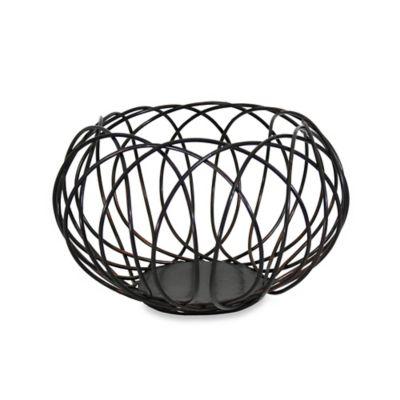 Mesa Kaleidoscope Fruit Basket in Antique Black