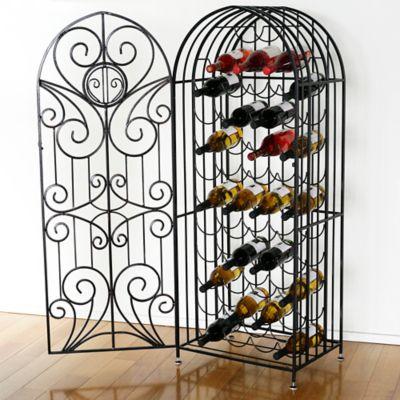 Mesa Arch 44-Bottle Wine Rack in Antique Black