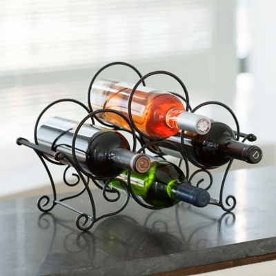 Mesa Bandore 4-Bottle Wine Rack in Antique Black