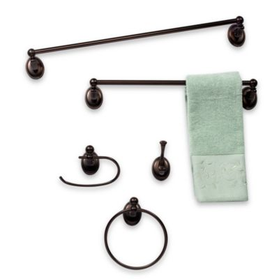 Rubbed Bronze Towel Bar