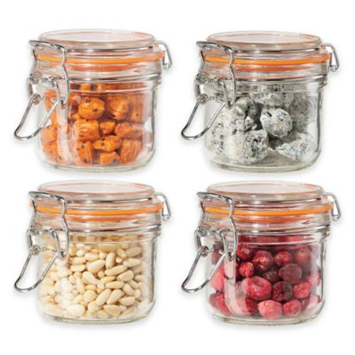 Oggi 4-Piece Glass Canister