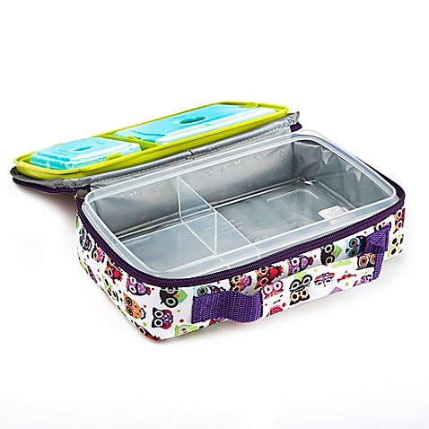 buy fit and fresh bento lunch box kit in owl print from bed bath beyond. Black Bedroom Furniture Sets. Home Design Ideas